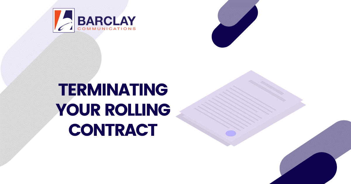 terminate rolling contract